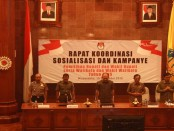 Rapat Koordinasi Sosialisasi dan Kampanye Pemilihan Bupati dan Wakil Bupati, Walikota dan  dan Wakil  walikota 2015- Foto: Koranjuri.com