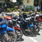Barang Bukti Sepeda Motor yang diamankan Polsek Densel - Foto: Koranjuri.com