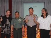 Pasca bentrok Teuku Umar antara dua ormas besar di Bali, Baladika dan Laskar Bali, sepakat berdamai - foto: IB Alit