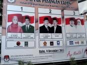 Tiga pasangan calon Bupati Purworejo pada Pilkada Serentak 2015 - foto: Sujono