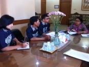 Audiensi siswa SMK Penerbangan Cakra Nusantara dengan Kadisdik Provinsi Bali - foto: ist