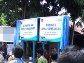Papan nama Desa Nambangan sebagai Kampung KB tingkat Kabupaten Purworejo - foto: Sujono/Koranjuri.com