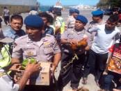 Razia yang dilakukan petugas Polsek Kawasan Perairan Pelabuhan Benoa kepada penumpang kapal - foto: Koranjuri.com