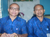 Kepala Bagian Hubungan Langganan PDAM Tabanan, Ida Bagus Marjaya Wirata dan Kasubag Humas I Gede Wijana Arnawa -foto: Koranjuri.com