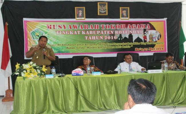 Musyawarah Tokoh Agama yang diselenggarakan Kementerian Agama Kantor Kabupaten Rote Ndao - foto: Isak Doris Faot/Koranjuri.com