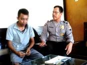 Muhtadi, yang dilaporkan ke polisi karena menganiaya istri - foto: Sujono/Koranjuri.com