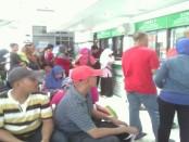 Suasana pemudik di stasiun Kutoarjo, Purworejo, Jawa Tengah - foto: Sujono/Koranjuri.com