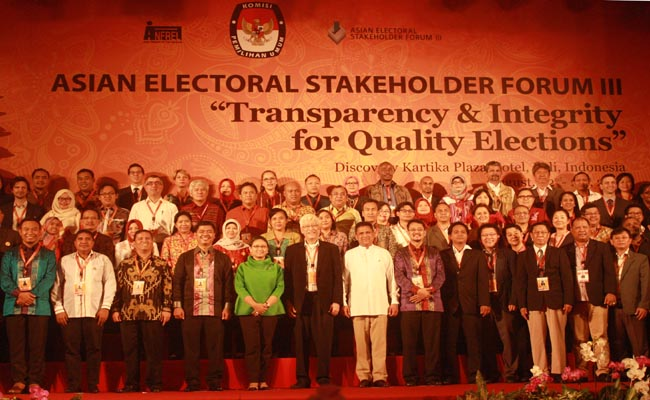 AESF III di Bali Sepakati Pemilu Transparan dan Berintegritas
