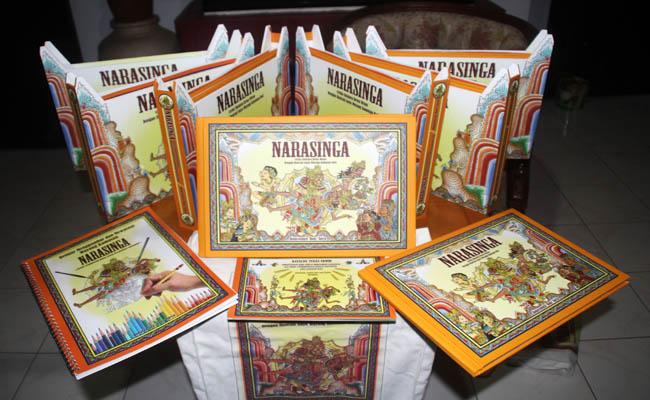 Cerita bergambar yang menampilan tokoh Narasinga/Koranjuri.com