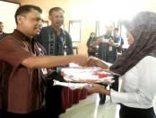 Pembukaan pelatihan ketrampilan berbasis kompetensi angkatan III di UPT LLK Dinsosnakertrans Kabupaten Purworejo, Cangkrep, Selasa (9/8) - foto: Sujono/Koranjuri.com