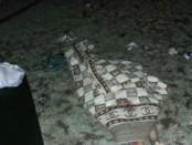 Jasad korban wisatawan asal Turki yang jatuh dari tebing setinggi sekitar 10 meter di pantai Balangan, Jimbaran, Badung, Bali - foto: Istimewa