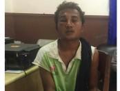 Pelaku pencuri truk di Jl.Cokroaminoto, Kelurahan Ubung, Denpasar, saat berada di Polsek Denpasar Barat - foto: Istimewa