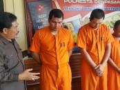 Tiga tersangka pengguna dan pengedar narkoba jenis sabu-sabu diamankan Satuan Reserse Narkoba Polresta Denpasar - foto: Istimewa