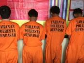 Empat orang pengguna sabu-sabu yang diamankan Tim Buser Narkoba Polresta Denpasar - foto: Istimewa