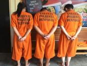 Mahasiswi berinisial IRS (21) bersama dua tersangka lain yang menjadi pengedar narkoba ditangkap aparat Polresta Denpasar - foto: Istimewa