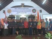 Jajaran kampus IKIP PGRI Bali menerima kunjungan studi rektor dan mahasiswa jurusan program studi Matematika Universitas PGRI Yogyakarta (UPY), Kamis, 23 Februari 2017 - foto: Koranjuri.com