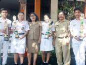 Atlit Sepak Takraw SMA Negeri 7 Denpasar telah mengumpulkan 8 trofi dari cabor Sepak Takraw di event Walikota Cup - foto: Wahyu Siswadi/Koranjuri.com