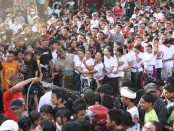Tradisi Omed-omedan di Banjar Kaja Sesetan Denpasar - foto: Koranjuri.com