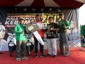 Farid, juara umum lomba menembak Piala Kapolres Kebumen - foto: Sujono/Koranjuri.com