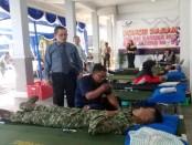 Kegiatan donor darah menyambut HUT Bank Jateng ke 54, di kantor cabang Bank Jateng Purworejo, Selasa (4/4) – foto: Sujono/Koranjuri.com