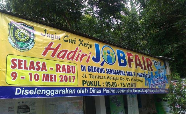 Job Fair 2017, yang diselenggarakan Dinperinaker Kabupaten Purworejo, dari tanggal 9 - 10 Mei 2017 mendatang – foto: Sujono/Koranjuri.com