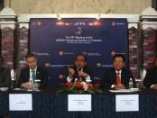 Dirjen Bea Cukai Heru Pambudi memberikan keterangan pers pada acara The 26th Meeting of ASEAN Directors-General of Customs di BNDCC, Nusa Dua Bali, Selasa, 16 Mei 2017 - foto: Wahyu Siswadi/Koranjuri.com
