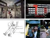 Karya-karya foto  dan sebuah ilustrasi dalam pameran fotografi yang mengambil tema 'Rekam Jalan' di Denpasar - foto kolase/Koranjuri