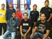 Sejumlah Awu-awu di terminal Ubung, Denpasar terjaring razia yang dilancarkan Polsek Denpasar Barat - foto: Istimewa