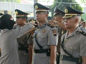 Upacara sertijab 5 perwira di jajaran Polres Kebumen, dipimpin Kapolres Kebumen, AKBP Titi Hastuti, S.Sos, Jum'at (18/8) - Sujono/Koranjuri.com