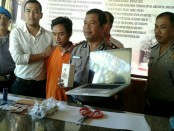 Polisi terpaksa memuntahkan timah panas ke arah betis pelaku Curat ini. Yoki Aprilia Aan Saputra alias YAAS (23) berusaha kabur saat hendak diamankan - foto: Istimewa