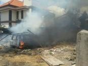 Puing-puing sisa bangunan  yang terbakar dari sebuah gudang bangunan di Jalan Satria I, Kuta, Badung, Jumat (1/9/2017) - foto: Istimewa