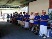 Jajaran Rektorat dan pengurus Yayasan di Kampus IKIP PGRI Bali saat pembukaan OSPEK 2017 - foto: Koranjuri.com