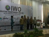 Musyawarah Besar pertama, Ikatan Wartawan Online (IWO) yang diselenggarakan di Jakarta pada Jumat (8/9/201). Kegiatan ini dihadiri seluruh perwakilan pengurus IWO daerah se-Indonesia - foto: Istimewa