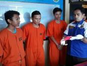 Sejumlah pelaku penyalahguna narkoba yang diamankan Polresta Denpasar selama hampir sepekan, 12-18 September 2017 - foto: Istimewa
