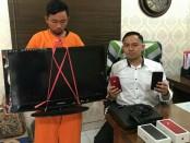Pelaku pencurian Eka Prasetia (23) yang berhasil ditangkap setelah polisi melakukan penyelidikan di Jakarta - foto: Istimewa