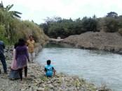 Lokasi kubangan galian C di kali Jali, perbatasan desa Sutoragan - Winonglor, Gebang, yang menewaskan Muhammad Mun'im Tohir - foto: Sujono/Koranjuri.com