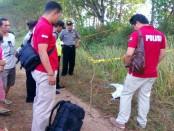 Lokasi TKP penemuan mayat bayi di lapangan Skip, Bandungrejo, Bayan, Purworejo - foto: Sujono/Koranjuri.com
