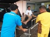 Kondisi RZ saat berada di RSU Sudirman, Kebumen - foto: Sujono/Koranjuri.com