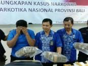 Satu tersangka berinisial HH (38) yang ditangkap BNNP Bali dalam kasus pengiriman paket ganja seberat 5 kg dari Medan-Denpasar yang sedianya akan dibawa menuju Lombok, Nusa Tenggara Barat - foto: Istimewa