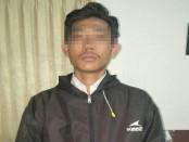 Poerwo Koespandi (25) alias PK pemuda yang berlagak jagoan menganiaya 2 pengendara motor. Giliran dia diburu Buser dan dijebloskan ke tahanan - foto: Istimewa