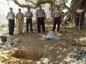Kerangka manusia yang masih utuh dan lengkap dimakamkan - foto: Isak Doris Faot/Koranjuri.com