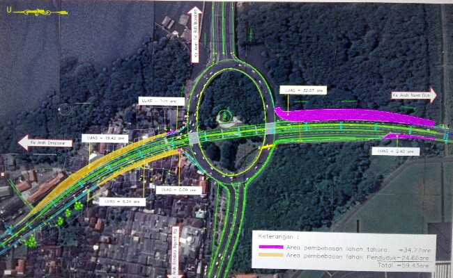 Proyek Underpass, Kendaraan Disarankan Lewati Tol