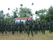Minggu Militer anggota TNI Kodam IX/Udayana di Desa Kerta, Kecamatan Payangan, Kabupaten Gianyar - foto: Istimewa