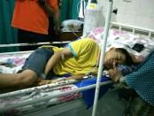 Kondisi korban Mutakin, saat dirawat di RSI Loano - foto: Sujono/Koranjuri.com