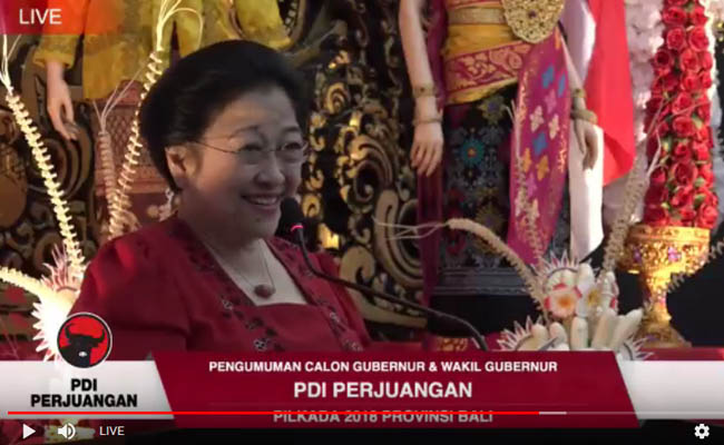 PDIP Usung Wayan Koster-Cok Ace di Pilkada Bali