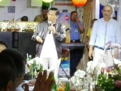 Gubernur Made Mangku Pastika saat gathering bersama Aliansi Masyarakat Pariwisata Bali - foto: Wahyu Siswadi/Koranjuri.com