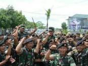 Kepala Staf Angkatan Darat, Jenderal TNI Mulyono melakukan kunjungan ke Kodam IX/Udayana. Kasad meninjau Kompi A Yonif 900 Raider/SBW dan Kikavserdam IX/Udayana di Tuban, Kabupaten Badung, Rabu, 31 Januari 2018 - foto: Istimewa