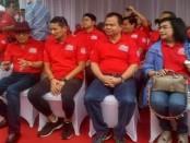 Ronnie F. Sompie bersama Wagub DKI Sandiaga Uno dan Menteri Yasona Laoli - foto: Bob/Koranjuri.com
