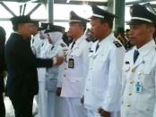 Bupati Purworejo Agus Bastian, saat melantik 233 pejabat di pendopo kabupaten, Jum'at (5/1) - foto: Sujono/Koranjuri.com
