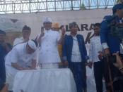 Deklarasi Calon Gubernur Bali dan Wakil Gubernur Bali, Ida Bagus Rai Dharmawijaya Mantra - I Ketut Sudikerta yang disebut sebagai paket Mantra Kerta - foto: Eka/Koranjuri.com